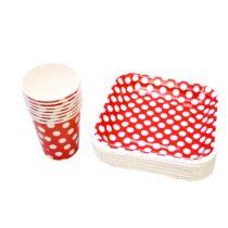 ظرف و لیوان ایرسا مدل Spotty بسته 20 عددی